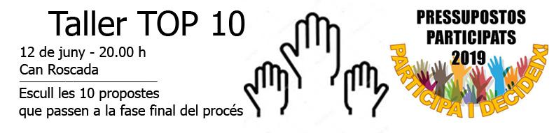 Taller Top 10 | Pressupostos Participats 2019 | Vilobí d' Onyar