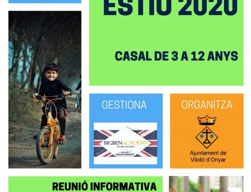 Casal Municipal d'Estiu 2020 per a nens i nenes de 3 a 12 anys